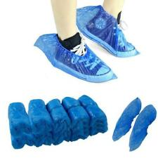 500x Plastic Blue Disposable Rain Cleaning Shoes Boot Cover Overshoes Protective