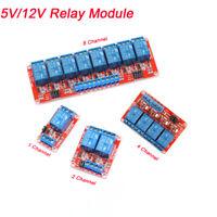 1-2-4-8 Kanal Relais 5/12V High Low Level Trigger Optokoppler Modul für Arduino
