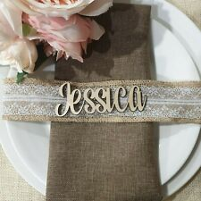 """Real Wooden""""Name Place Seating Cards""""Weddings,,Anniversary,Engagment & Birthday"""