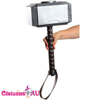 Licensed Thor Hammer Avengers Assemble Armour Weapon Costume Accessories NEW