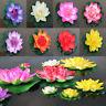 Künstlicher gefälschter Blumen-Teich Schwimmende Seerose / Lotus Foam Decor New