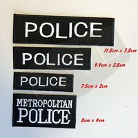 Metropolitan Police Logo Embroidered Patch Sew  Iron-on patch badge police