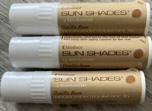 Melaleuca Sun Shades Vanilla Bean Moisture Pack X 3 NEW