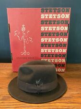 Men's Stetson Hat Fedora Brown Suede IOB Size XS Small
