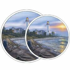 Reston Lloyd Electric Stove Burner Covers Set of 4 A Perfect Day All-Over Pat...