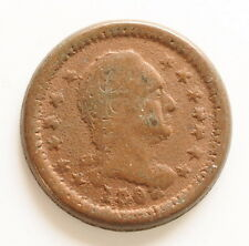 """1863 US Civil War Token CWT """"Union For Ever"""" George Washington Coin"""