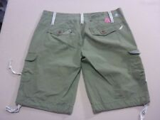 038 WOMENS EX-COND RIP CURL RELAXED FIT KHAKI CARGO SHORTS SZE 10 $80 RRP.