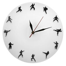 Taekwondo Fighting Wall Clock Kickboxing Wall Watch Taekwondo Club Decor Gift