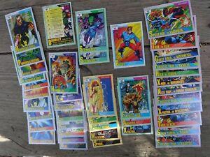 IMPEL 1991 MARVEL 42 PC.LOT TEAMS ARCH-ENEMIES WEAPONS VILLAINS ROOKIES + CARDS