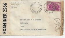 French Cameroun 1940 Sangmelima Double Censored Cover Elephant Stamp