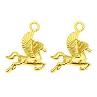 40pcs Unicorn Horse Tibetan Silver Charms Pendant For Jewelry Making DIY 24*33mm