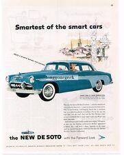 1955 DE SOTO Firedome 4-door Sedan Dolphin & Avon Blue Vtg Print Ad