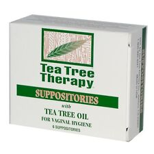 Tea Tree Therapy Vaginal Suppositories with Tea Tree Oil, 6 Count