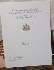 ROYAL WEDDING JULY 1981 BANK OF ENGLAND COMMEMORATIVE LUNCHEON BOOKLET RARE