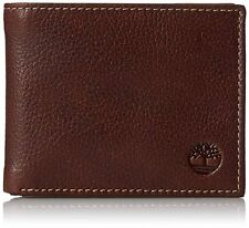 Timberland Men's Brown Genuine Leather Credit Card Bifold Sportz Passcase Wallet