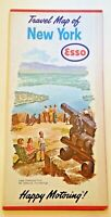 NEW YORK STATE 1962 ESSO TRAVEL ROAD MAP HAPPY MOTORING HUMBLE OIL REFINING