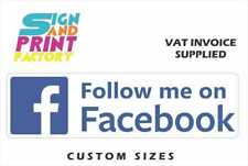 2x Follow Me On Facebook Sticker - 5 Sizes Available - Decals Shop Window Sign