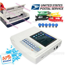 Touch Portable Digital 12-channel 12-lead Electrocardiograph ECG Machine EKG,USA