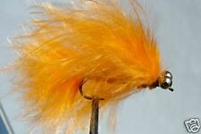 10 x Mouche peche Streamer Catwiskers Orange H10 fly truite trout