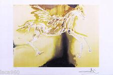 Salvador DALI Pegasus Flying Horse P/Signed Litho Print 14-1/2 x 22