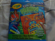 Crayola Color Explosion Neon Mini Stow & Go~New In Package