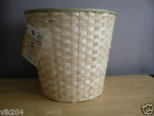SET OF THREE BAMBOO PAPER WASTEBASKET TRASH BIN ROOM TIDY OFFICE WASTE BIN