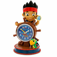 DISNEY STORE JAKE & THE NEVERLAND PIRATES Sculptured DESK CLOCK New w/Box SKULLY