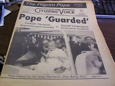 THE CITIZENS VOICE  - 5/14/81 - POPE GAURDED -  COMPLETE - NEAR MINT