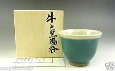 o5037,JPN,Folk craft movement, Ushinoto Wear, SENCHA greentea teacup.