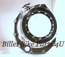 Hayabusa GSXR 08-12 Clear Clutch Cover Chrome W' Custom Oil Cap L@@K