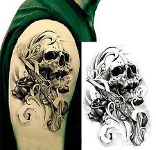 flash tattoo fake tattoo skull and Gun Waterproof Waterproof (hb-058)