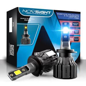 Novsight 2x H7 72W LED Headlight Bulbs Kit 10000LM High Power 6000K White Xenon