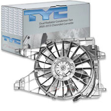 TYC Dual Radiator and Condenser Fan Assembly for 2005-2013 Chevrolet Corvett gj