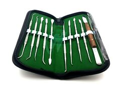 10 pack Dental Lab Stainless Steel Kit Wax Carving Tool Set Surgical Instruments