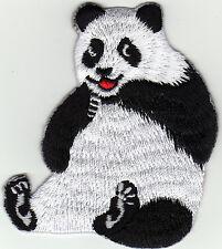 Aufnäher Bügelbild Iron on Patches Panda Bär China Zoo süß (a2s1)