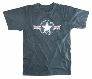 USAF Air Corps Kokarde T-Shirt Fatigue Vintage US Army Airforce Pilots Marine #2