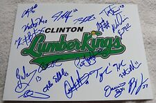 Ryan Yarbrough Signed 2015 Clinton Lumberkings Team Auto Photo Seattle Mariners