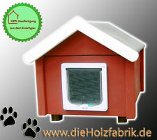 Outdoor Katzenhaus wetterfest mit Katzenklappe - SS2-J