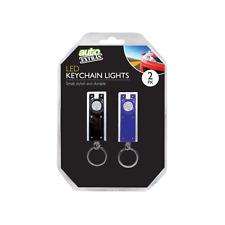 Key Ring Torch Led Car Motorbike Camping High Quality 2 Pack Black & Blue OTL