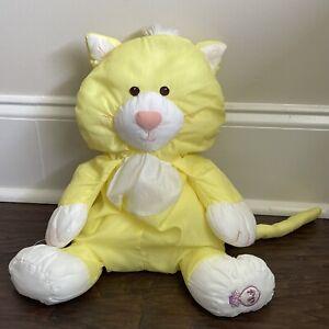 1986 VINTAGE Fisher Price PUFFALUMP Yellow CAT  Kitty Kitten Stuffed Animal 8002