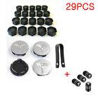Tesla Model 3 S X Y Car Wheel Center Hub Cap Cover Lug Nut Kit 29PCS Silver