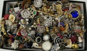 Mixed Unsorted Costume/Fashion Broken Jewelry Lot Just Over 11 lbs.