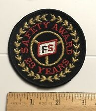 FS Trucking Freight Truck Driving Safety Award 23 Years Embroidered Patch