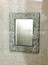 Mother of Pearl Inlay Frame Mirror Bedroom Decorative Home Wall Decor