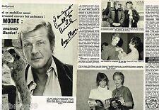 Coupure de Presse Clipping 1982 (4 pages) Roger Moore soutient Brigitte Bardot