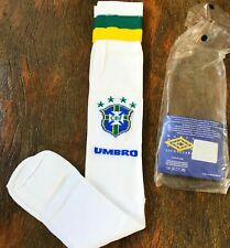 Brasil Umbro socks 1995. Original for players CBF. Very Rare! Ronaldo