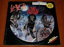 SLAYER LIVE UNDEAD LP *RARE* DMM REMASTERED UK PRESS 1987 LIMITED w/POSTER New