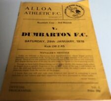 Teams A-B Alloa Football Scottish Fixture Programmes (1970s)