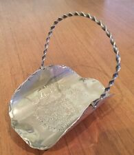 Beautiful Silver Plated EPNS Bridal Tray / Serving Basket - Small With Etching