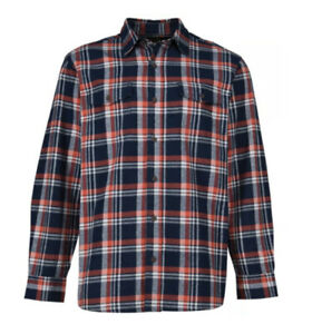 Red Head Navy Red & White Premium Checked Flannel Shirt